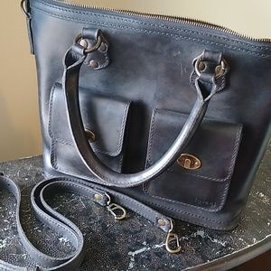 💖 Large Love 41 Crossbody Leather Tote